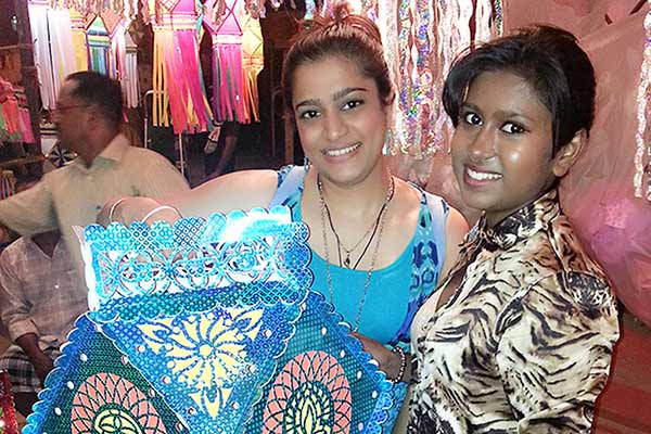 Actress Ekta Jain & singer Sanchiti Sakat were spotted at Kandil galli while shopping
