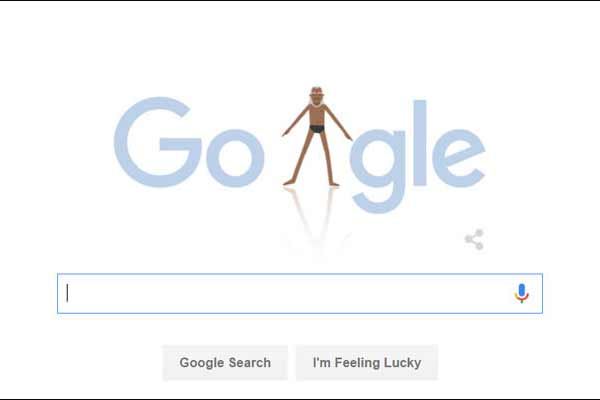 Google doodle dedicated to the legendary yoga guru!