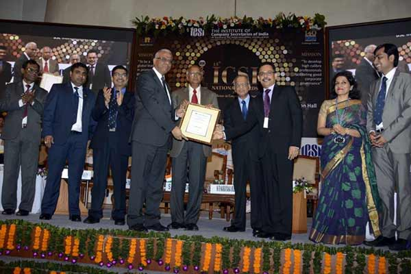 Axis Bank honoured by ICSI for excellence in Corporate Governance