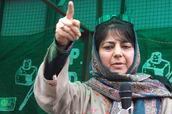 Mehbooba blames Pakistan for unrest; pins Kashmir hopes on PM Modi