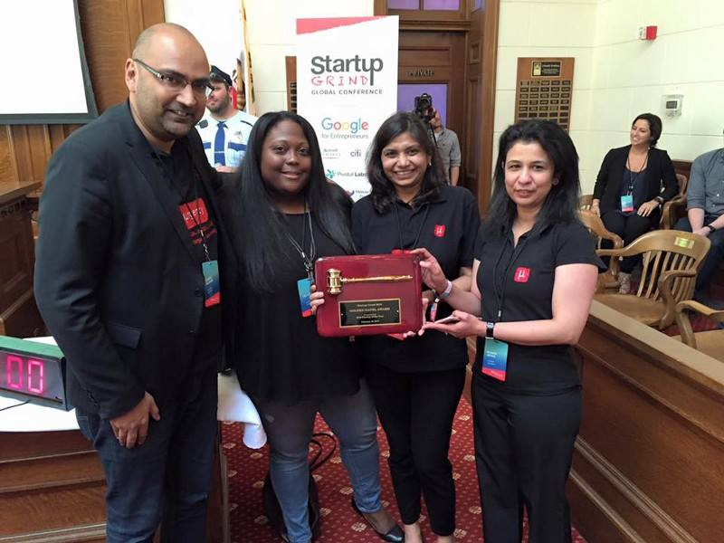 Indian Social Entrepreneur Shaffi Mather's new venture, MUrgency wins the Startup of the Year award at Startup Grind!