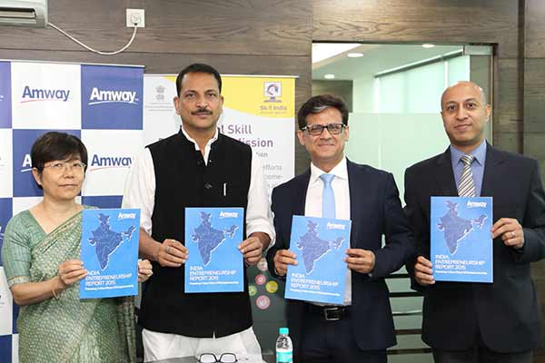 Two-Thirds Indians view entrepreneurship positively according to the Amway India Entrepreneurship Report 2015