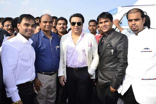 Govinda graces the launch of 'Only Pooja Chappal Factory'