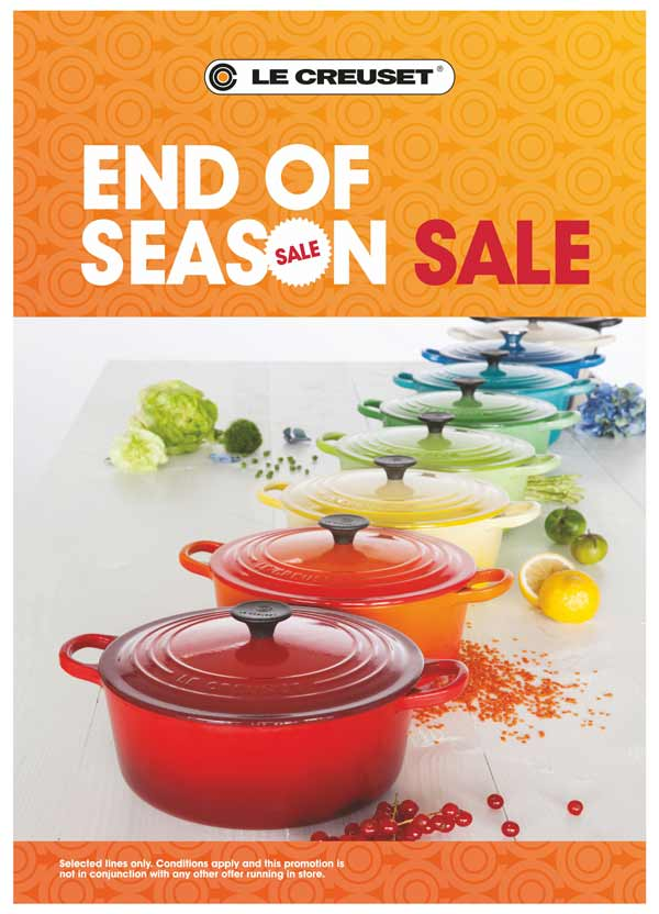 Le Creuset, World's most loved  french cookware brand announces End of Season  Sale till August