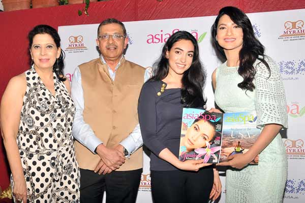 Gauahar Khan on the cover of Asia Spa Magazine
