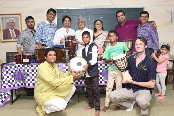 Musical Instruments donated to the children of orphanage by The Artistic Shift