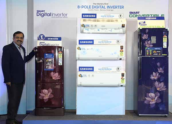 Samsung launches World's first Solar-powered Refrigerators with Digital inverter tech & World's first 8-Pole Digital Inverter Air Conditioner that cools 43% faster