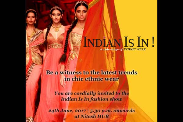 'India Is In!' - a fashion show at Nitesh Hub Mall