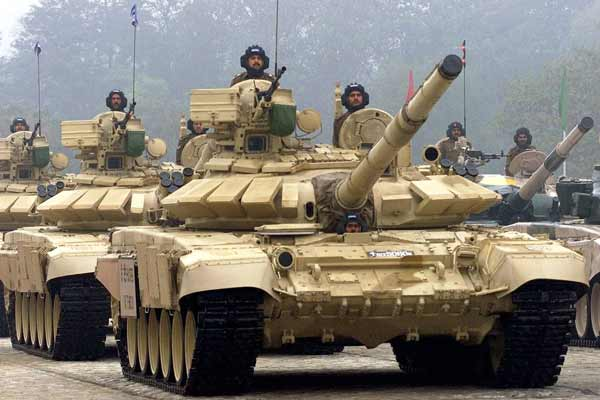 Indian Army Team with T90 Tanks Participates in Tank Biathlon 2017 in Russia