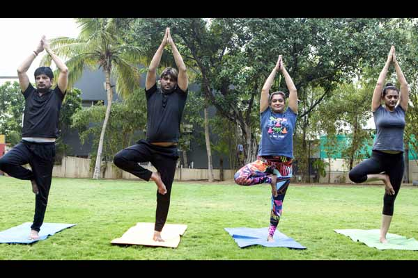 Celebs promotes yoga in their Hindi film