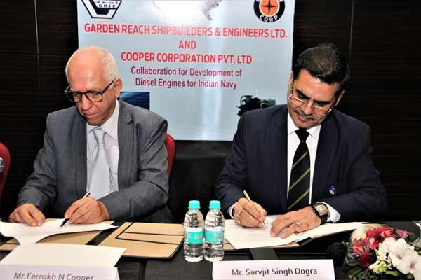 Cooper Corporation signs MoU with Garden Reach Shipbuilders and Engineers Ltd. (GRSE) for Development of Diesel Engines for Indian Navy & Indian Coast Guard