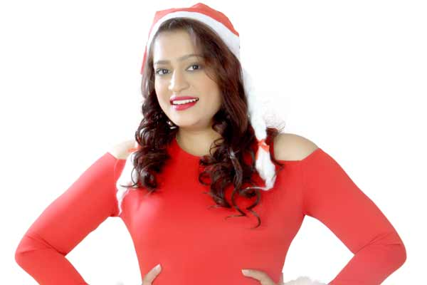 Ekta Jain and Shree Rajput shoots in red dress for Christmas