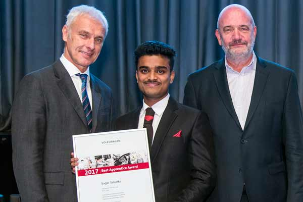 Volkswagen Group honours its best apprentices worldwide with the Best Apprentice Award 2017