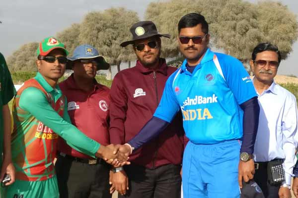 India enters the final of the 5th Blind Cricket One Day World Cup as they beat Bangladesh today by 7 wickets, to play against Pakistan in the finals