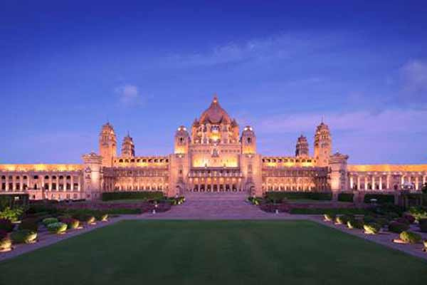 UMAID BHAWAN PALACE, JODHPUR NAMED BEST HOTEL IN INDIA AT THE ANNUAL TRIPADVISOR TRAVELLERS' CHOICE AWARDS