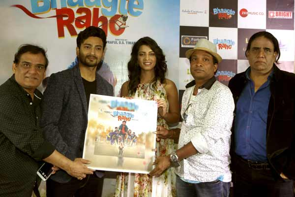 Satish Kaushik and Amar Upadhyay came to release the music and trailer of Hindi film Bhaagte Raho at Sunny Super Sound,Juhu
