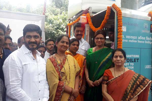 MP Anil Shirole to get the state-of-the-art automatic Public e-toilets in the city from his fund