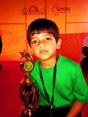 Jay Sanjay Wandre Ranked 2nd in the 1st level of national level Abacus competition