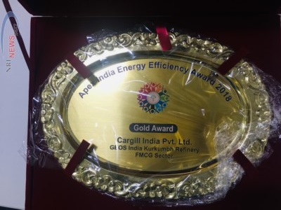 Cargill Kurkumbh Plant bags the prestigious Apex India Excellence Awards 2018 in Health & Safety and Energy Efficiency category