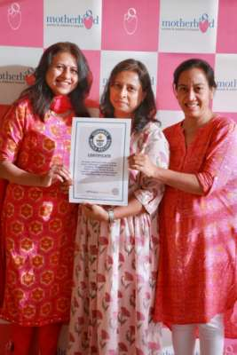 """Motherhood Hospital and Spherule Foundation bags Guinness World Record certificate on Largest Menstrual hygiene awareness"""