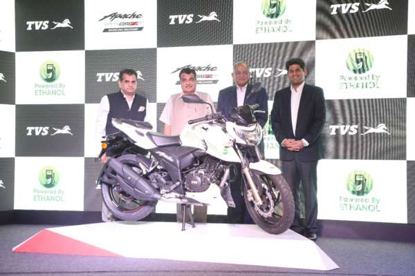 TVS Motor Company launches India's first Ethanol based motorcycle – TVS Apache RTR 200 Fi E100