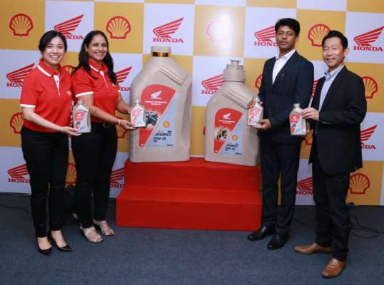 SHELL LUBRICANTS AND HONDA TWO-WHEELERS TO LAUNCH A NEW RANGE OF ENGINE OIL