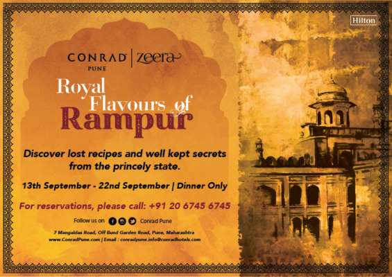 INDULGE IN THE ROYAL FLAVOURS OF RAMPUR AT ZEERA, CONRAD PUNE