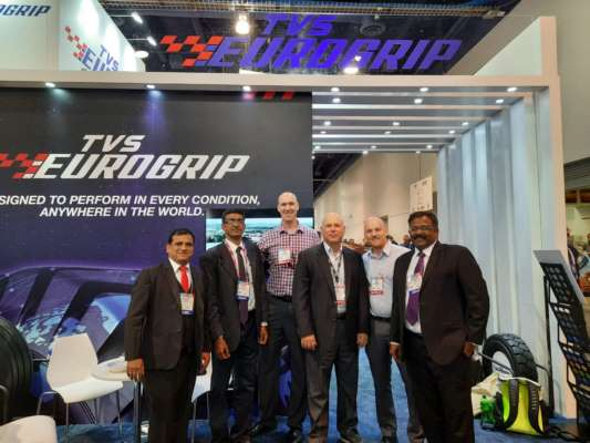 TVS SRICHAKRA SHOWCASES TVS EUROGRIP OFF-HIGHWAY RANGE AT SEMA SHOW 2019