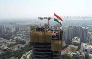 Historic moment created as the Indian flag waves from city's tallest building