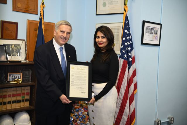 Hollywood film producer Rashaana Shah Honored by New York State Assembly.