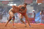 Kolhapur's Anil Chavan claims the title of 74 Kg mud category of Maharashtra kesari