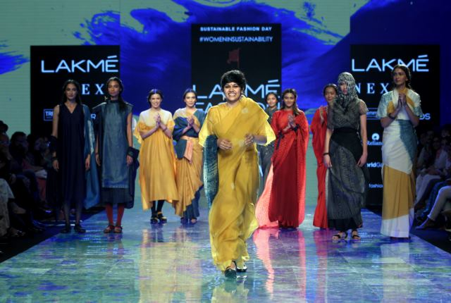The Women in Sustainability show opened Sustainable Fashion Day with stunning collections at Lakmé Fashion Week Summer/Resort 2020