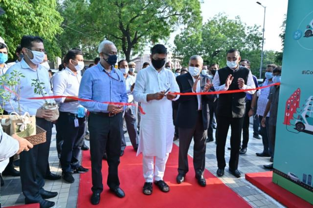 India's first of its kind public EV Charging Plaza inaugurated by Union Power Minister
