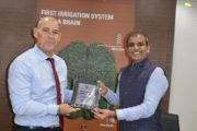 Ambassador of Israel to India Dr. Ron Malka discussed the latest agri-tech innovations with Mr. Randhir Chauhan, MD, Netafim