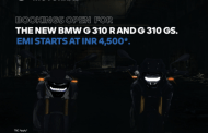 BMW Motorrad World Brings The New BMW G 310 R And BMW G 310 GS At  INR 4,500 per month