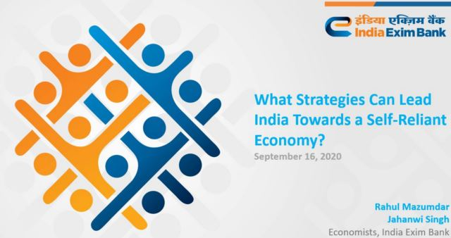 Exim Bank Strategies for Self Reliance India