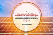 International Solar Alliance Announces ISA Solar Awards for the year 2020
