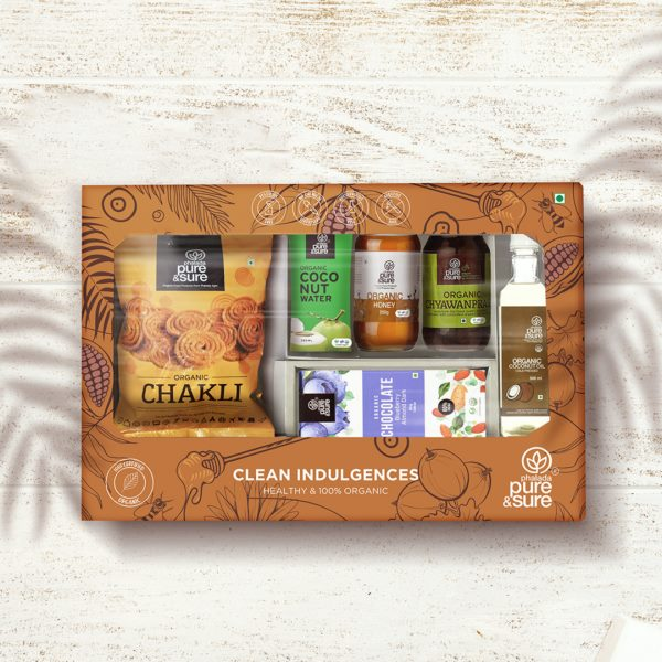 This festive season gift your loved ones a healthy and 100% organic Clean Indulgences gift box from Phalada Pure and Sure