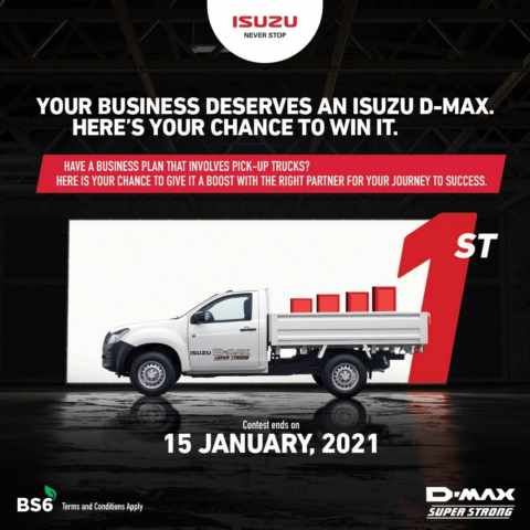 Isuzu Motors India launches 'Win a D-Max' Contest