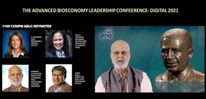 Dr. Chaudhari delivers the keynote address at the bioeconomy industry's flagship event in the United States