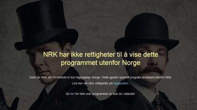 Sherlock on NRK online