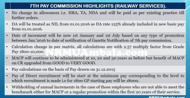 7th CPC Revised Rules (Railway Services)