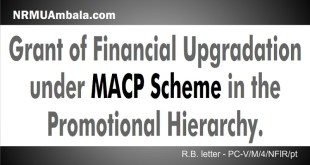Financial upgradation MACP scheme