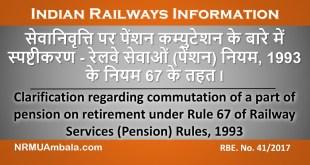Indian Railways RBE 41-2017