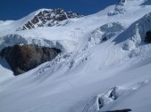 The location of the avalanche, and our escape gully.