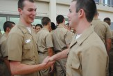 Upperclassmen were given opportunity to meet the Battalion's newest midshipmen.