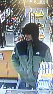 North Reading Police believe the man pictured here is MICHAEL TALLINI, AGE 32, OF NORTH READING and that he allegedly robbed a gas station Sunday evening. (North Reading Police/Courtesy Photo)