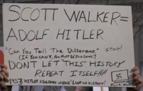WI Gov. Walker equal to Hitler
