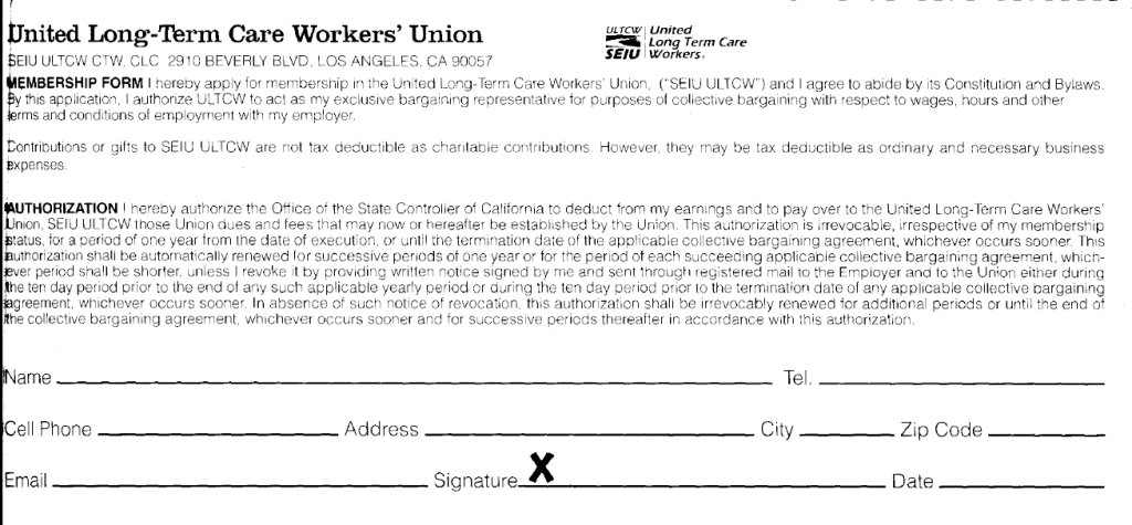 ultcw sign up card