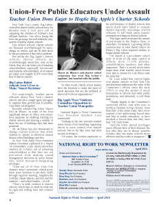 April 2014 National Right to Work Committee Newsletter